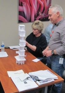 Free teambuilding exercise for students and adults: Tallest Tower exercise