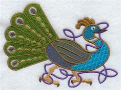 Machine Embroidery Designs at Embroidery Library! - Peacock Pride