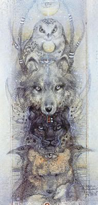 Spirit Totem Animals: Discover Meanings of Animal Symbolism Spirit Animal Totem, Animal Spirit Guides, Native Art, Native American Art, Art Indien, Animal Symbolism, Power Animal, Visionary Art, Animal Tattoos