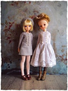 Ruruko and Licca girls. Pretty Dolls, Beautiful Dolls, Fashion Dolls, Kids Fashion, Doll Display, Flower Girl Dresses, Doll Dresses, Doll Clothes, Knit Crochet