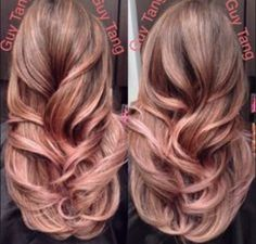 Rose gold hair by Guy Tang.  Never ceases to amaze.