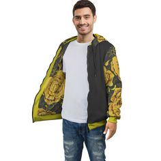 Yellow Roses Zip Hoodie – This is iT Original Yellow Roses, Zip Hoodie, Your Style, Bomber Jacket, Zipper, Hoodies, Jackets, Fashion, Down Jackets