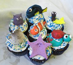 Nemo Cupcakes by Wild Orchid Baking Co., via Flickr