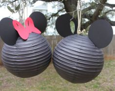 Mickey or Minnie Mouse Inspired Paper Lantern
