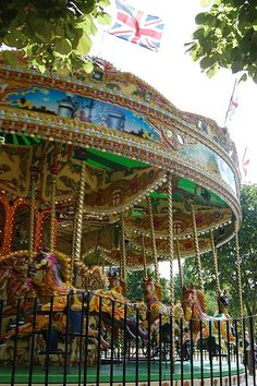 Victorian carousel at the Princess of Wales Memorial Playground, Kensington Gardens, London