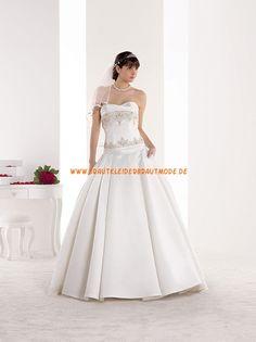 Elegante Brautkleider 2014 aus Satin mit schleppe A-Linie