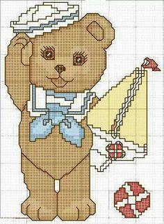 Ursinho de marinheiro infantil