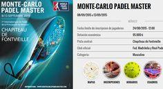 Monte Carlo Padel Master 2015 – Horarios