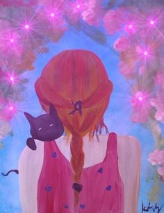 "Saatchi Art Artist krista may; Painting, ""Love the Meow"" #art"