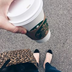 Rise and shine! Officially switched from iced to hot coffee {vanilla latte no PSL's yet!} Side note...I just got these super cute ballet flats and I am uh-bsessed with them already  I'll link them on #ontheblog