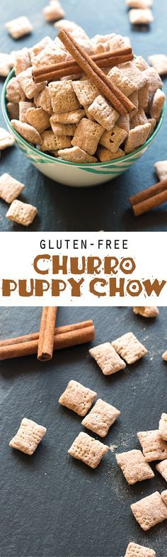 Packed with rich cinnamon churro flavor, this gluten-free churro puppy chow is the perfect treat for your Cinco de Mayo festivities!