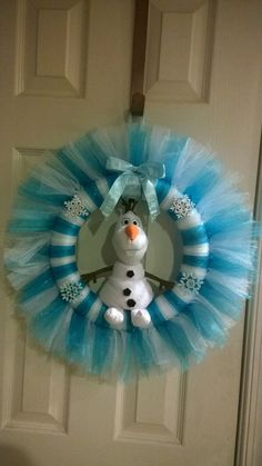 12 Olaf Tulle Wreath by RomanzasWreaths on Etsy