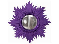 Howard Elliott Euphoria 21 Round Royal Purple Wall Mirror Amazing Ideas