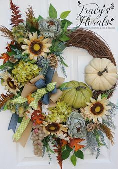 Fall Wreath Autumn Wreath Elegant fall wreath XL fall