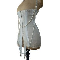 Antique Corset, Edwardian Summer Corset, ca. 1910. Next Corset style is Edwardian, and I shall wear it like this
