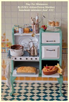 1/12 scale; Baker's Old Fashion Ovens & Range by Tiny Ter Miniatures