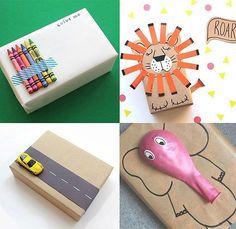 Dicas de embalagens para presente pra quem não tem nada dentro de casa além de papel craft e canetinhas. ...