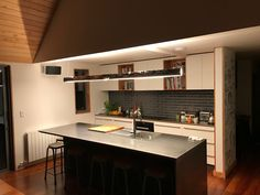 The historic timber pieces are currently being built into long, linear lights with high CRI warm white LED strip. This provides a flood of task lighting but can also be dimmed to a low light level to create intimate settings. Portland Cement, Linear Lighting, Led Strip, Low Lights, Warm, Create, Building, Furniture, Home Decor