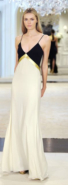 Ralph Lauren resort 2015-  Black Dress - Haute Couture / Vestido - Negro - Alta Costura