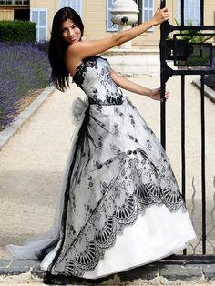 Wedding dress with black!