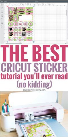 How to Make Stickers with your Cricut +Free Sticker Layout Templates Hello Daydreamers! Today you are going to learn how to make the most beautiful stickers Cricut Craft Room, Cricut Vinyl, Cricut Air, Cricut Fonts, Vinyl Decals, Whiteboard, How To Make Stickers, Making Stickers, Diy Stickers