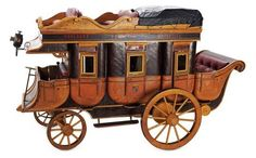 Wonderful Rare French Model of Langedoc Steam Coach Miniature Rooms, Miniature Crafts, Miniature Houses, Haunted Dollhouse, Dollhouse Miniatures, Antique Toys, Vintage Toys, Mini Doll House, Scale Art