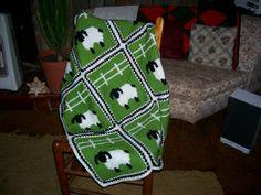 Tunisian Crochet Patterns | Sheep in a Meadow Tunisian Crochet Pattern PDF by gloriouscrochet