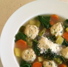 Summer Vegetable Soup with Mini Chicken Meatballs -Low Carb, Gluten Free – Preheat to 350˚