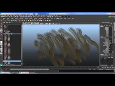 Maya hair rendering and grooming - YouTube