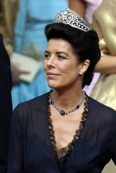 Princess Caroline often wore her mother Grace Kelly's tiaras, but since her marriage to Prince Ernst August of Hanover, Caroline has mostly worn tiaras from the Hanover family.