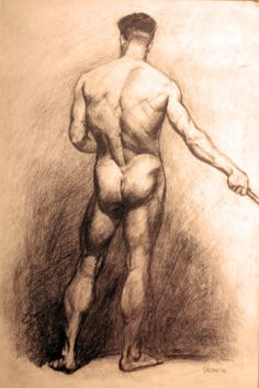 Male, life drawing.