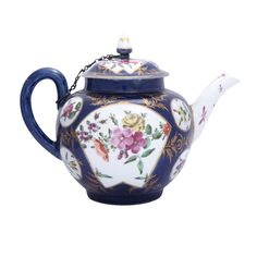 1stdibs - Rare+First+Period+Worcester+Porcelain+Powder+Blue+Ground+teapot explore items from 1,700+ global dealers at 1stdibs.com