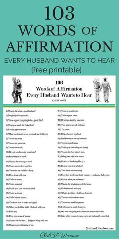 103 Words of Affirmation Every Husband Wants to Hear