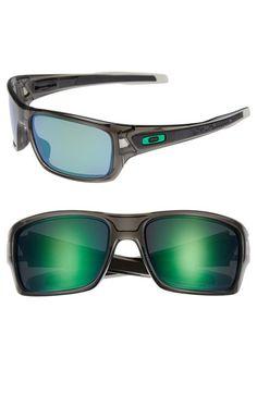 Men's Oakley 'Turbine' 65mm Polarized Sunglasses - Grey Smoke/ Jade Iridium