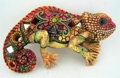 Southwest decor mosiac lizard