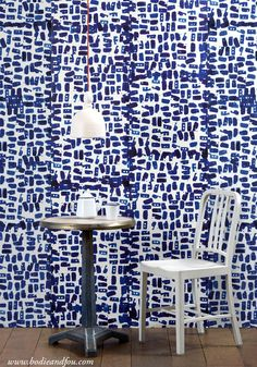 Wallpaper or fabric maybe on entryway wall? Buy Addiction wallpaper by Paola Navone at Bodie and Fou & get off your first order — Bodie and Fou - Award-winning inspiring concept store Wall Wallpaper, Pattern Wallpaper, Empire Wallpaper, Wallpaper Roll, Shibori, Wall Fires, Paola Navone, Chaise Vintage, Interior Design Magazine