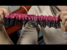 DIY Garters <--- make a garter for a friend getting married... pretty cute idea