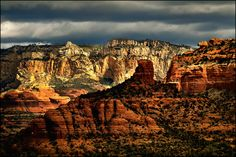 https://flic.kr/p/6ARsSb | moving shadows | Sedona on a stormy afternoon. View On Black
