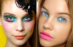 maquiagem carnaval colorida