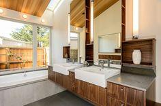 midcentury bathroom by Hudson Street Design