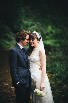 Wedding Photography UK. Beautiful #ClairePettibone dress. Sarah Mason Photography. Ralf & Hannah's Autumn Wedding at Gibson Mill in Harcastle Crags. www.sarahmasonphotography.co.uk.