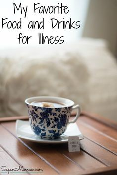 Feeling under the weather? Discover my favorite food and drinks for illness to help get through your sick days! These foods and drinks will help your throat feel better and provide you with some extra nutrients and calories to get though this time while you're in a weakened state. Click on over to get foods & drinks to try enjoying on your next sick day.