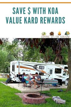 KOA Rewards and how can you use them to stretch your camping budget! The KOA Value Kard Rewards program offers camping discounts Rv Camping Tips, Camping For Beginners, Camping Style, Camping With Kids, Family Camping, Tent Camping, Family Travel, Rv Tips, Rv Travel