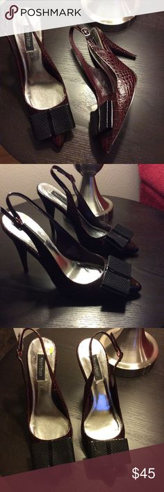 White House Black Market Slingblack Wine and Black stylish Pump. White House Black Market Shoes Heels