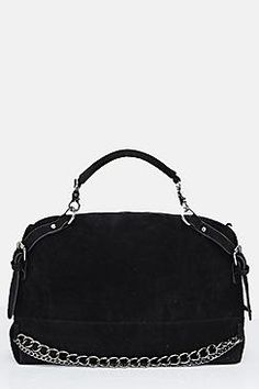 Amy Chain Detail Suedette Day Bag