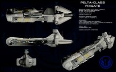 Pelta-Class Frigate - http://unusualsuspex.deviantart.com/gallery/