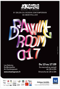 Original typographic poster design for Drawing Room 017 - 8eme Salon du Desin Contemporain - Design : benoitf.com