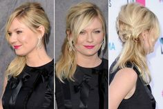 Kirsten Dunst's Sexy Side Ponytail - Do It Yourself - How to Get Hollywood's Best Hairstyles at Home - Photos