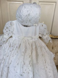 7e22a6584 Baptism Gown, Christening Gowns, Girls Dresses, Baptism Dress, Christening  Dresses, Christening