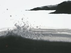 カリグラフィー 紀伊半島・和風・水墨・墨彩・墨絵
